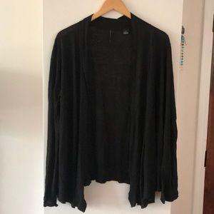 Sweaters - Black Isda&co Open Linen Cardigan